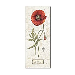 Trademark Fine Art Royal Garden IV Artwork by Daphne Brissonnet, 10 by 24-Inch