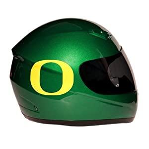 Motorcycle Helmet - University of Oregon Ducks - Full Face / Faced DOT approved Limited Edition Merchandise - Officially Licensed Collegiate Custom Logo Helmets - College Biker Riding Gear - One of a kind UO product - WTD and Ride with U of O Duck Pride by FanRider - Green - Small