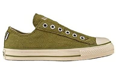 Converse Men's All Star Chuck Taylor Hemp Slip On Casual Shoe Olive (6)
