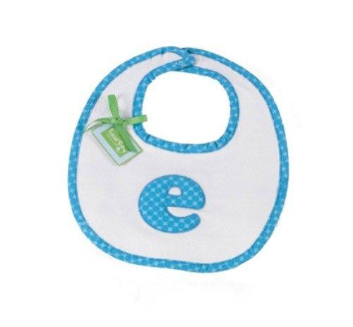 Mud Pie Initial Baby Boy Blue Initial Cotton Bib, Letter G