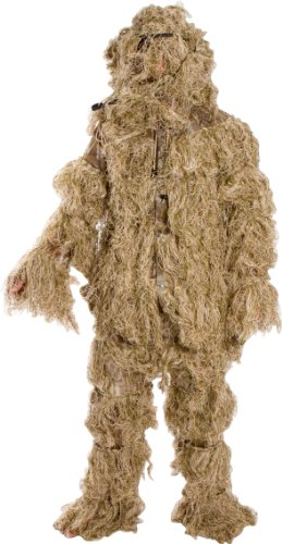 Modern Warrior Forest and Grasslands Design Ghillie Suit, 3-Piece, One Size Fits Most Adults