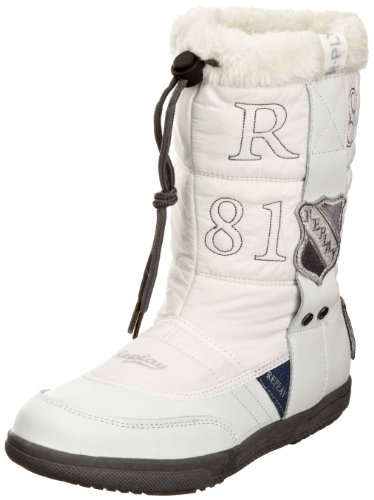 Replay Youth Crystan White Snow Boot Gbs09.202.C0002S.061 6 UK
