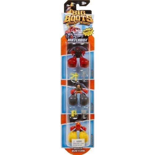 Matchbox Big Boots Figures 3 Pack Set - Blaze Busters - 1