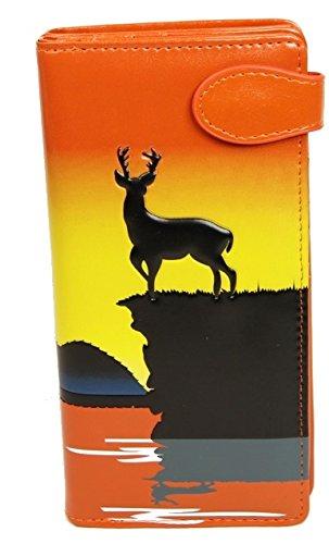 Shagwear portafoglio per giovani donne , Large Purse : (arancione alce/ Elk)