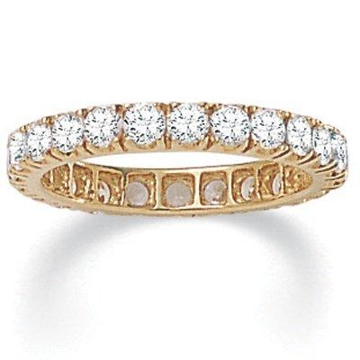 PalmBeach Jewelry DiamonUltra™ Cubic Zirconia 10k Eternity Band