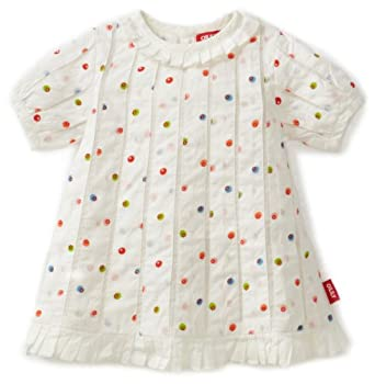 Oilily Baby-girls Newborn Dientje 0312 Dress, White Dots, 6 Months/62