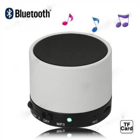 Mini Portable Multimedia Monster Beats Bluetooth Speaker, Support Tf Card Aux Bluetooth Handsfree - Black And White (White)