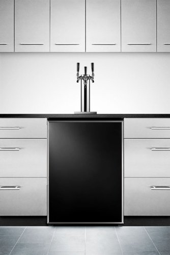 Summit Sbc490Bifrtriple Professional 24 Black Built-In Beer Dispenser