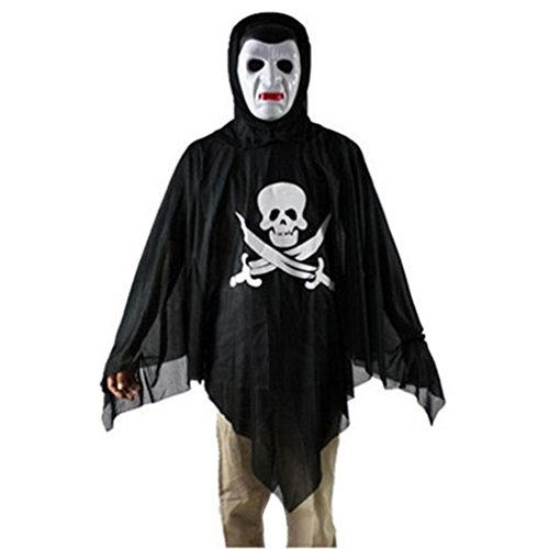 Oksale® Halloween Party Hooded Cloak Coat Wicca Robe Medieval Cape Shawl Ghost Witch Cothes (E) (Joker Jack Child Costume)
