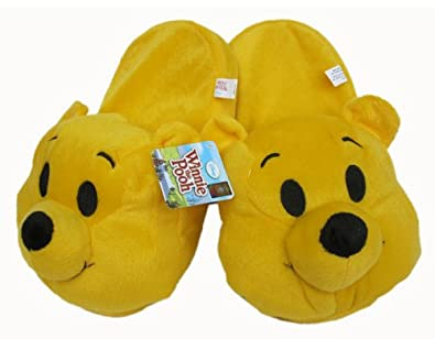 Winnie the Pooh Slippers - Childrens Plush Slippers