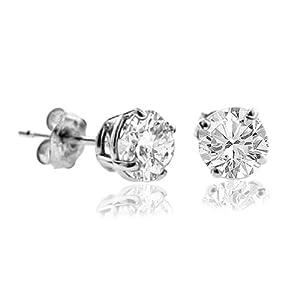 1/4 CT Diamond Stud Earrings 14k Gold (I1-I2 Clarity) from FineDiamonds9