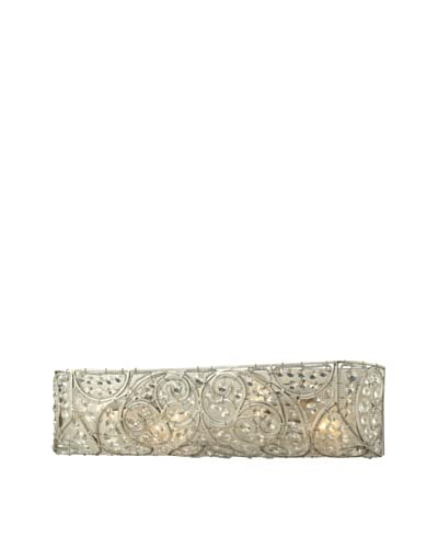 Artistic Lighting Andalusia Collection 4-Light Bath Bar, Aged Silver