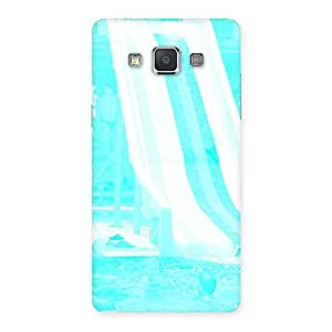 Cute Ride Cyan White Back Case Cover for Galaxy Grand 3