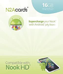 N2A (R) - 16GB Nook to Android 4.1.2 bootable microSD Card for the Nook HD