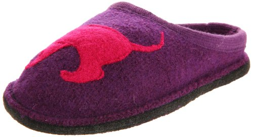 Cheap Haflinger Women's Doggy Violet Slipper (B004SX6TDM)