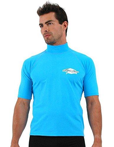Plus Size Rash Guard Swim Shirt For Big Men - Large Sizes - 5XL