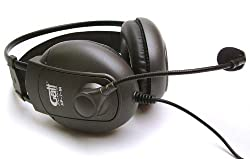 Microphone Headset: Closed Ear Monitors with Microphone suitable for Skype, MSN etc
