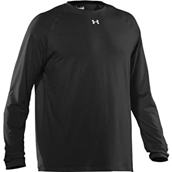 Under Armour Mens Locker Long Sleeve T-Shirt Purple White, LG by Under Armour