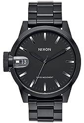 Nixon Chronicle 44 Black / Gunmetal Stainless Steel Analog watch