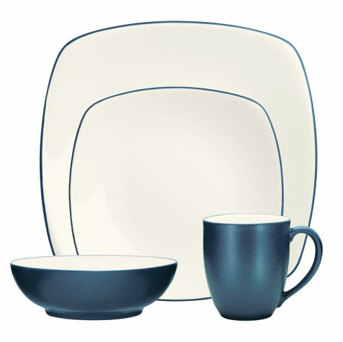Noritake 4-Piece Colorwave Square Place Setting, Blue
