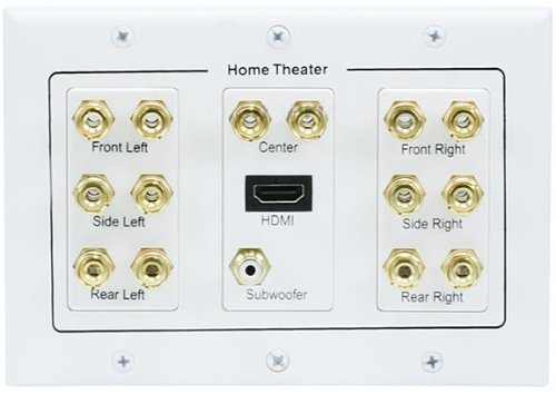 C&E 3-Gang 7.1 Surround Sound Distribution Wall Plate With Hdmi Connector