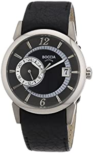 Boccia Herren-Armbanduhr Mit Lederarmband Trend 3543-01