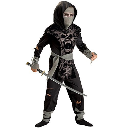 Totally Ghoul Dark Zombie Ninja Costume, Boys Size Large Ages 6+
