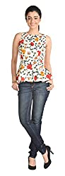 Aaina Women's Regular Fit Top (Ast001D_X-Large, White, X-Large)