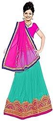 Jay Ambe Creation Women's Viscose Dress Material(dno120f_Pink & Rama_Free Size)