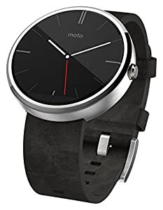 Motorola Mobility Moto 360-Leather Smartwatch, Gray