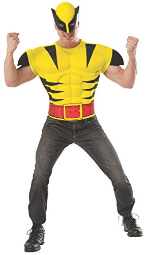 Rubie's Costume Men's Marvel Universe Adult Wolverine Muscle Chest T-Shirt/Mask