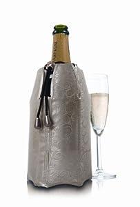 Vacu Vin 3885562 Refroidisseur à Champagne Décor Platinum Beige/Doré