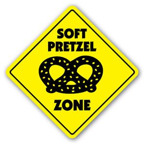 SOFT PRETZEL ZONE Sign Decal hot pretzels concessions stand lover gift snacks food (Concession Snacks compare prices)