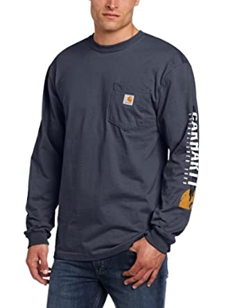 Carhartt Men 39 S Big Tall Impact Logo Long Sleeve Pocket T
