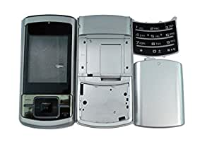 TOTTA Replacement Full Body Housing Back, Body Panel For Samsung C3053 - Silver