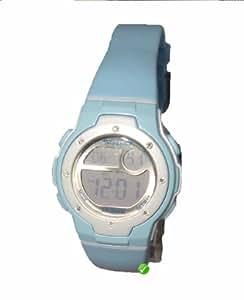 Sinar Armbanduhr - Jugenduhr digital - blau mit Kristallen