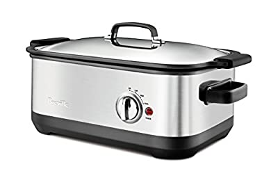 Breville BSC560XL Stainless-Steel 7-Quart Slow Cooker with EasySear Insert from Breville