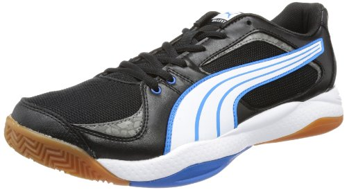 Puma Ballesta Indoor Shoes Men's Black Schwarz (black-white-brilliant blue 02) Size: 6.5 (40.5 EU)