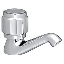 Delco Brass Pillar Cock -(Chrome, 10*10*10 cm)