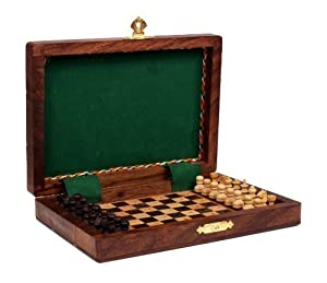Classic Handcrafted Wooden Chess Set Board Game Travel Accessory Toys Kids