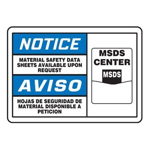 Notice Sign, 7 x 10In, BL and BK/WHT, INFO