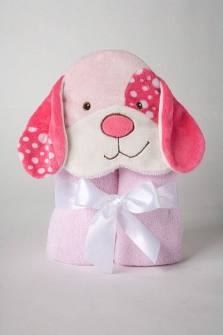 "Pink Dog Towel 28"" by Douglas Cuddle Toys - 1"