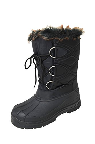 Shoelace Women's Black Insulated Winter Snow Boots (MARLEY-01) 7 M US