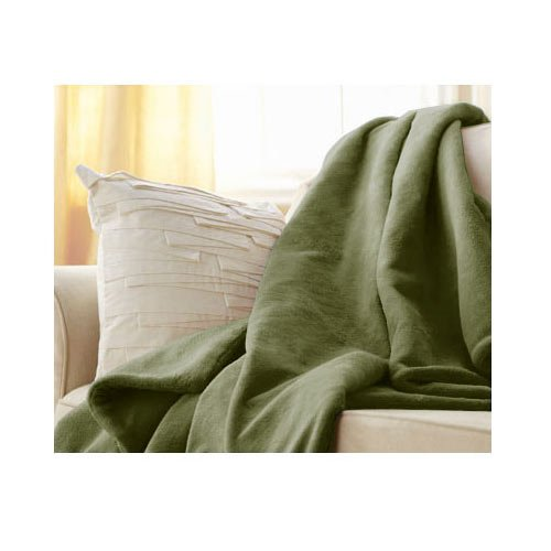 Purchase Sunbeam Microplush Throw Camelot Cuddler Electric Heated Warming Blanket, Ivy Green