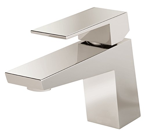 Danze Modern D225562PNV Mid-Town Single Handle Lavatory Faucet, Polished Nickel, , Polished Nickel
