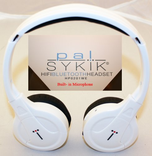 Sykik Bluetooth Stereo Headphone - Built Microphone Supports Wireless Music Streaming And Hands-Free (White)