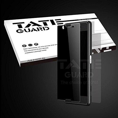 TateGuard Sony Xperia X Performance 専用 覗き見防止強化ガラスフィルム 飛散防止加工 指紋防止 耐衝撃液晶保護ガラスフィルム (覗き見防止)