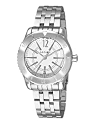 Azzaro Men's AZ2200.12AM.010 Coastline White Dial Stainless Steel Bracelet Watch Watch