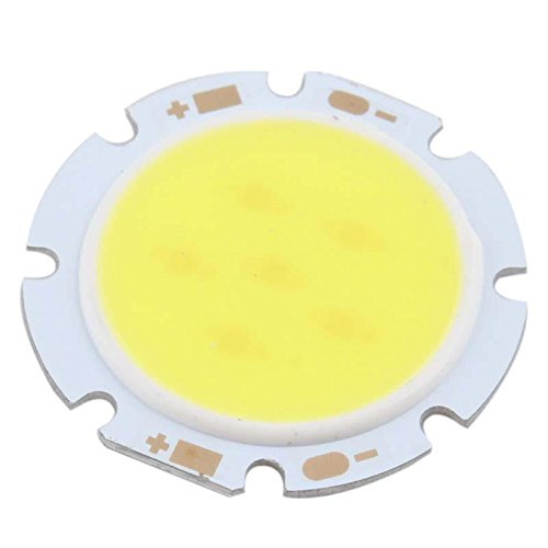 Crazydeal 230Lm~250Lm 3W Pure White Round Cob Led Smd Lightstylish Lamp Bulb Dc 11V 6000-6500K Applied