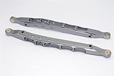 Axial Yeti Upgrade Parts Aluminium Rear Lower Chassis Link Parts - 1Pr Gray Silver